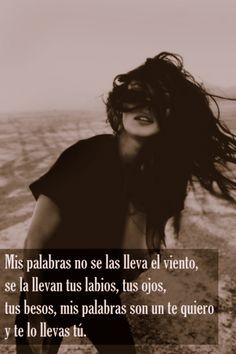 Mis palabras no se las lleva el viento,...