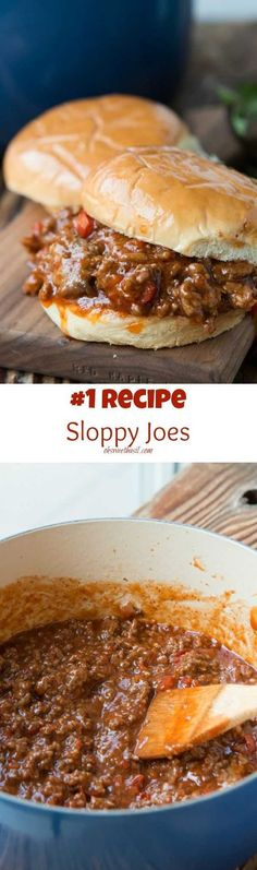 The #1 Recipe out there for Sloppy Joes and we agree, it's the best! ohsweetbasil.com
