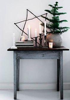Un coin déco minimaliste pour Noël