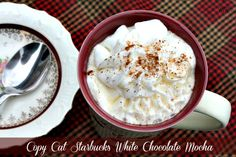 Mommy's Kitchen: Copy Cat Starbuck's White Chocolate Mocha recipe - save money, & it can be can easily be doubled or tripled Starbucks White Chocolate Mocha, White Mocha, Hot Chocolate, Chocolate Recipes, Chocolate Chips, Frappuccino, Frappe, Yummy Drinks, Yummy Food