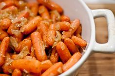 Brown Butter and Carmelized Onion Roasted Carrots . can't wait until Thanksgiving next year to make these Side Recipes, Veggie Recipes, Real Food Recipes, Vegetarian Recipes, Cooking Recipes, Healthy Recipes, Yummy Food, Delicious Dishes, What's Cooking