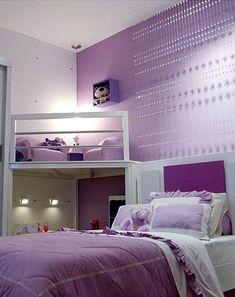 Dormitorios: Fotos de dormitorios Imágenes de habitaciones y recámaras, Diseño y Decoración: DORMITORIO LILA PARA NIÑA