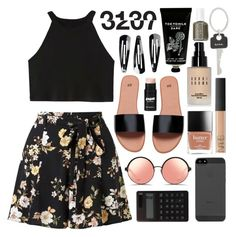 """Untitled #666"" by rheeee ❤ liked on Polyvore featuring Miss Selfridge, Matthew Williamson, Muji, Bobbi Brown Cosmetics, TokyoMilk, NLY Accessories, Paul Smith and Essie"