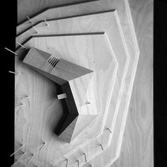 Sluice Point Residence… Source by iwaneetza Folding Architecture, Architecture Concept Drawings, Art And Architecture, Architecture Details, Architecture Sketchbook, Arch Model, Roof Design, Layout, Design Model