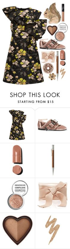 """Untitled #1462"" by sunnydays4everkh ❤ liked on Polyvore featuring Giambattista Valli, N°21, Faber-Castell, Obsessive Compulsive Cosmetics, Oscar de la Renta, Too Faced Cosmetics, Urban Decay and NARS Cosmetics"