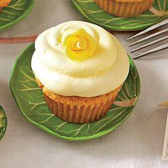 Lemon Sherbet Cupcakes with Buttercream Frosting (Pam's Citrus Cupcakes)  | MyRecipes.com