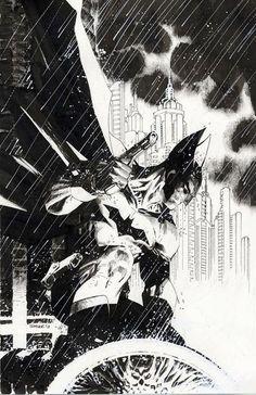 Jim Lee penciled/inked variant cover for Detective Cowl, gloves & handgun a throwback to Batman's original look. Batman Comic Art, Batman Comics, Batman And Superman, Batman Arkham, Batman Robin, Comic Book Artists, Comic Artist, Comic Books Art, Jim Lee Batman