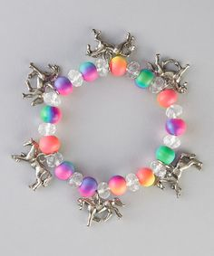 Take a look at this Neon Horse Stretch Charm Bracelet on zulily today!