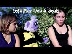 Watch today's video where Bean the purple monkey plays hide & seek, tag and Draws with sidewalk chalk!