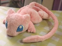 Hey, I found this really awesome Etsy listing at https://www.etsy.com/listing/155252210/made-to-order-pink-mew-handmade-plush