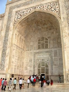 Entrance to the Taj Mahal, India