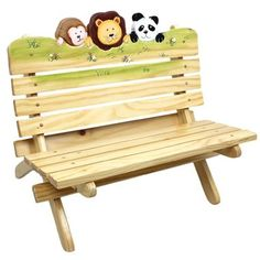Found it at Wayfair - Sunny Safari Outdoor Kid's Bench Outdoor Chairs, Indoor Outdoor, Outdoor Decor, Outdoor Play, Outdoor Spaces, Backyard Play, Kids Furniture, Outdoor Furniture, Custom Furniture