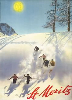 Love vintage ski posters