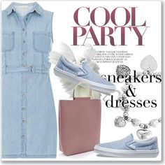 Designer Clothes, Shoes & Bags for Women Look Magazine, Dress With Sneakers, Sporty Chic, Spring Looks, Sheer Dress, Luxury Fashion, Fashion Trends, Vans, Picture Description