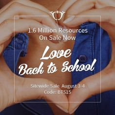 1.6 million resources are on sale now! Up to 28% off everything on www.teacherspayteachers.com... Stock up on your back to school goodies today & tomorrow. {promo code BTS15}
