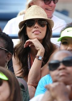 Eva Longoria Photos: Vivica A. Fox and friend BJ Coleman cheer for Venus Williams who lost against Angelique Kerber of Germany in 3 sets during the US Open held at the USTA Billie Jean King National Tennis Centre in Flushing Meadows, Queens