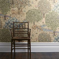Linen Wallpaper, Scenic Wallpaper, Print Wallpaper, Pattern Wallpaper, Wallpaper Designs, Cottage Wallpaper, Interior Wallpaper, Wallpaper Decor, Wallpaper Desktop