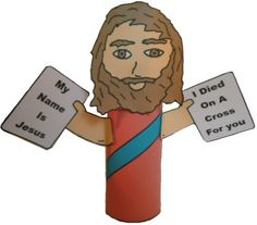 Jesus Toilet Paper Roll Craft