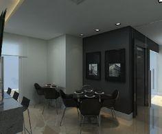 Loft em Joinville. Super moderno e prático! Decoração área comum Loft