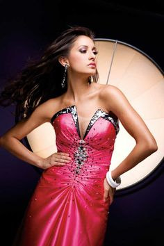 Hot Pink Evening Gown - Paris Prom Dress 110716