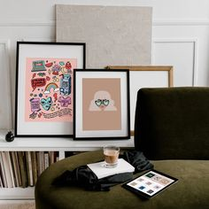 Home – Paper Edited Gallery Wall, Paper, Frame, Illustration, Prints, Home Decor, Picture Frame, A Frame, Illustrations