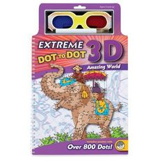 Extreme Dot to Dot 3D World by Mindware. $19.74. Specially-printed backgrounds make these dot to dot images appear to leap off the page! Puzzles range from 250 to over 800 dots for amazing detail. Extreme Dot-to-Dot 3D Books. Use the included black marker and 3D glasses to see your images come to life. Specially-printed backgrounds make these dot to dot images appear to leap off the page! Puzzles range from 250 to over 800 dots for amazing detail. Use the include...