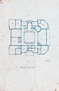 Keyhouse manor blueprints 01 basement locke key pinterest keyhouse manor blueprints 03 second level malvernweather Images