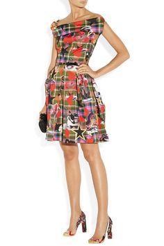 Vivienne Westwood Anglomania|Halton draped printed cotton dress|NET-A-PORTER.COM