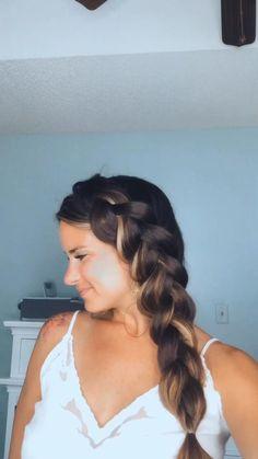 Cool Braid Hairstyles, Easy Hairstyles For Long Hair, Ponytail Hairstyles Tutorial, Hair Up Styles, Brown Blonde Hair, Medium Blonde, Long Hair Video, Grunge Hair, Hair Videos