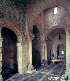 interior of San Pedro de la Nave at Campillo, España. Built between 680 and before 711 CE. this curch is one of the last works of Visigothic architecture.