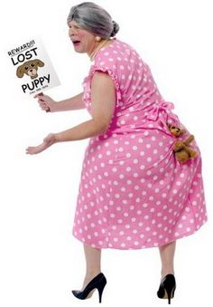 Fat lady - lost puppy Halloween costume
