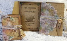 Pocket Country Rustic Wedding Invitation with by AnSiopaPaipear