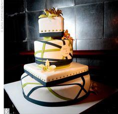 Crisscross Fondant Cake