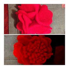 felt flowers by Estudio Landelion http://landelionmexico.blogspot.mx/#