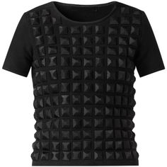 Burberry Geometric Bead Wool T-Shirt found on Polyvore