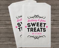 Wedding Favor Bags, Candy Buffet Bags, Rustic Wedding, Favor Bags, Personalized Wedding Favor Bags, Treat Bags, Custom Favor Bags, Kraft 056