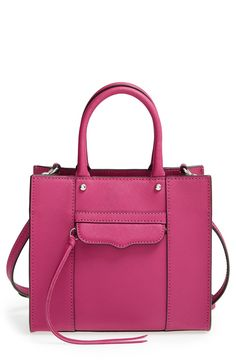 The magenta color of this Rebecca Minkoff bag is so striking.