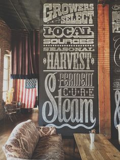 Americano | LA - Nice Hand-lettered sign typography