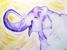 "Painting Aquarell ""Joy"" #painting by MrsPicca"