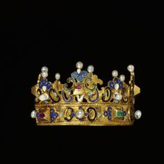 Coronet. Place of origin: South Germany Date: ca. 1600 Medium: Enamelled gold set with emeralds, rubies and pearls