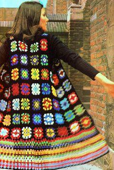 Transcendent Crochet a Solid Granny Square Ideas. Inconceivable Crochet a Solid Granny Square Ideas. Granny Square Crochet Pattern, Crochet Squares, Crochet Granny, Crochet Patterns, Granny Squares, Granny Square Sweater, Stitch Patterns, Knitting Patterns, Crochet Coat