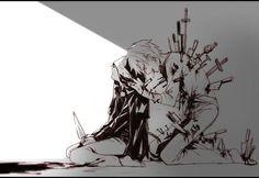 Aguantar el dolor en silencio, y quien aprecias esta apunto de hacerse daño, perverso,no mente?