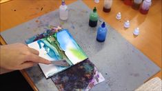 Alcohol Ink Abstract/Landscape Painting Demo on tile - kristarobertsonart - Bing video Alcohol Ink Tiles, Alcohol Ink Painting, Rubbing Alcohol, Abstract Landscape Painting, Landscape Paintings, Ink Paintings, Home And Deco, Art Techniques, Land Scape