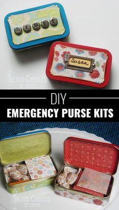 Fun Homemade Gifts for Friends | Cute DIY Stocking Stuffers for Christmas | Easy DIY Crafts  Ideas | Emergency Purse Kits  http://diyjoy.com/cute-diy-stocking-stuffer-ideas                                                                                                                                                                                 More #ChristmasDIYcrafts
