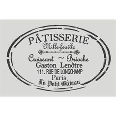 French stencils at www.maisondestencils.com