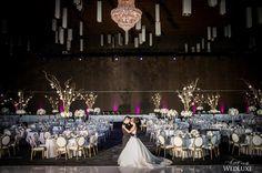 Purple uplighting transformed this #Vancouver #couple's #weddingreception and truly set the mood!   Photography By: Life Studio Inc.   WedLuxe Magazine   #wedding #luxury #luxurywedding #eventdecor #venue #reception