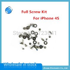 10sets/lot OEM New Replacement Fix Repair Full Screw Set Kit Screws for iPhone 4S Open Repair Screw Kit with O-ring wholesale