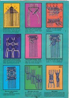 Artesanato crochê,trico,macramê da Glicia.: Tecnicas de macramé.