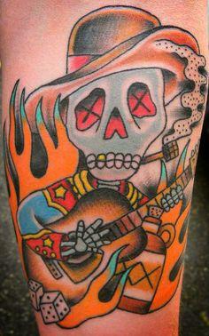skeleton banjo tattoo - Google Search Banjo, Tatting, Skull, Ink, Skeleton, January, Google Search, Skulls, Bobbin Lace