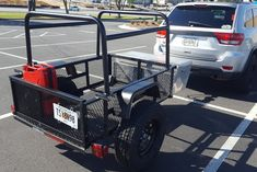 This is a x 5 Carry-on multi-purpose camping / utility trailer. The round tube racks could haul a roof top tent, kayaks, bikes, ? Photo by from Expo Trailer Maker, Trailer Kits, Work Trailer, Kayak Trailer, Off Road Trailer, Utility Trailer, Trailers, Tent Accessories, Kayak Paddle